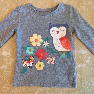 Carter's Shirts & Tops - Bundle Long Sleeve T-Shirts 5T Leopard Print Owl